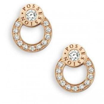 Piaget Possession Diamond 18K Rose Gold Stud Earrings