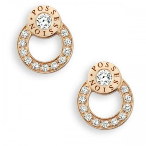 Piaget Possession Diamond 18K Rose Gold Stud Earrings