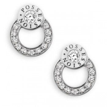 Piaget Possession Diamond 18K White Gold Stud Earrings