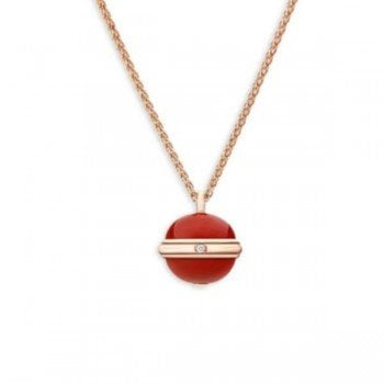 Piaget Possession Diamond, Carnelian 18K Rose Gold Pendant Necklace