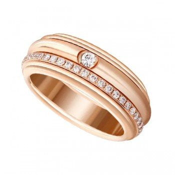Piaget Possession G34P8A00 Diamond 18K Rose Gold Ladies Ring