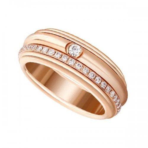 Piaget Possession G34P8A00 Diamond 18K Rose Gold Ladies Ring