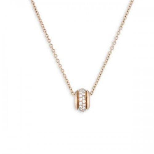 Piaget Possession Mini Ring Diamond 18K Rose Gold Pendant Necklace