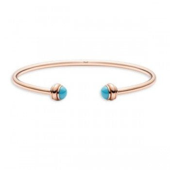 Piaget Possession Turquoise 18K Rose Gold Open Bangle G36PA200 @majordor