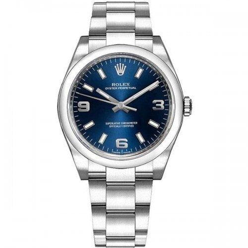 Rolex Oyster Perpetual 114200-bluaso 34mm Blue Dial