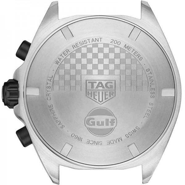 Tag Heuer CAZ101N.FC8243 Formula 1 Gulf Racing Limited Edition Watch case back view @majordor