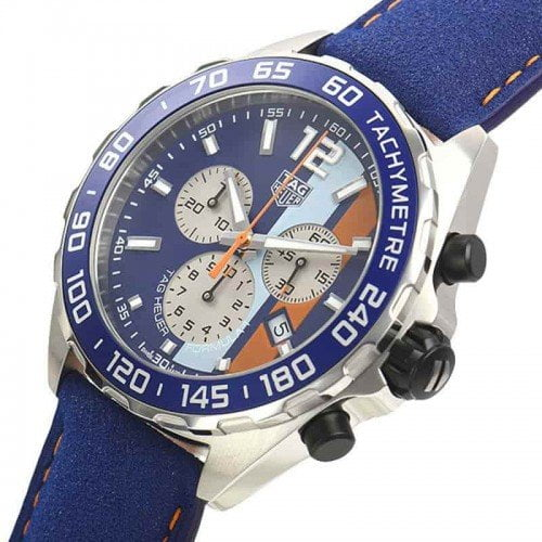 Tag Heuer CAZ101N.FC8243 Formula 1 Gulf Racing Limited Edition Watch side view @majordor