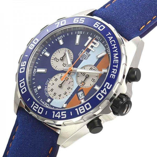 Tag Heuer CAZ101N.FC8243 Formula 1 Gulf Racing Limited Edition Watch side view @majordor