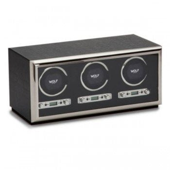 Wolf Exotic Triple Automatic Watch Winder Box @majordor