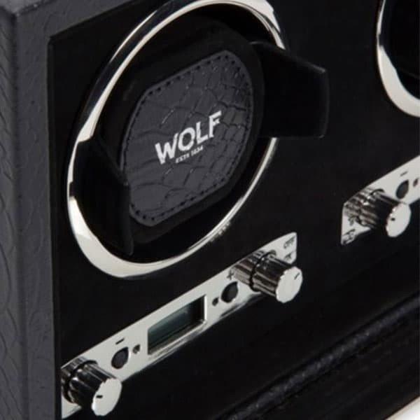 Wolf Exotic Triple Automatic Watch Winder Box