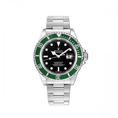 16610LV Rolex Submariner Kermit Black Dial Green Bezel Watch