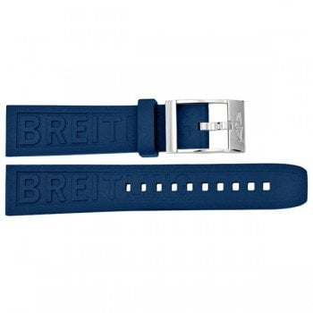 159S Breitling Diver Pro III 24mm Blue Rubber Replacement Strap