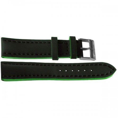234X Breitling 24mm Black Leather Replacement Strap