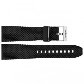 267S Breitling Aero Classic 24mm Black Rubber Replacement Strap