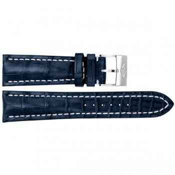 746P Breitling 24mm Blue Crocodile Replacement Leather Strap