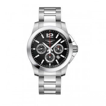 Longines Conquest L3.801.4.56.6 Chronograph Automatic 44mm Watch