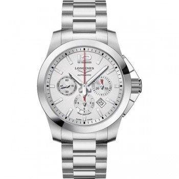 Longines Conquest L3.801.4.76.6 Chronograph Automatic 44mm Watch Caliber L688