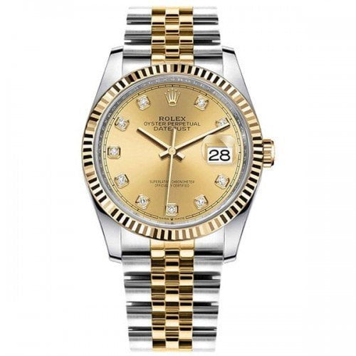 Rolex Datejust M126233-0017 chpdj 36mm Yellow Rolesor