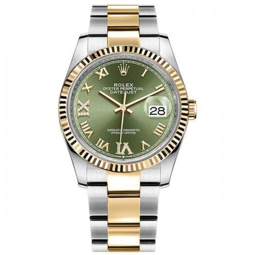 Rolex Datejust 126233-0026 grnro 36mm Yellow Rolesor