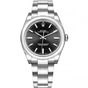 Rolex Oyster Perpetual 114200 blkso 34mm Black Dial Womens Watch