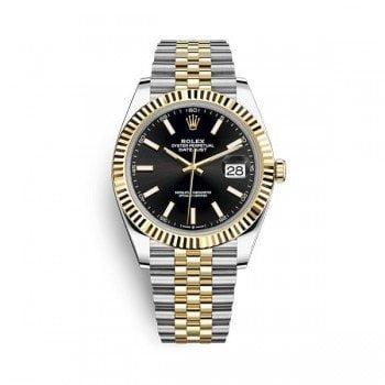 Rolex Datejust m126333-0014 blksj 41mm Black Dial Watch