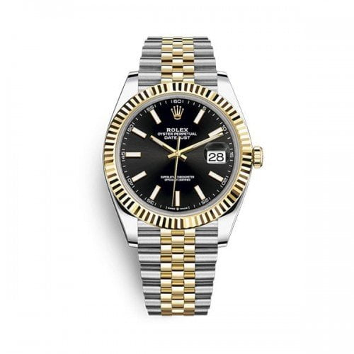Rolex Datejust m126333-0014 blksj 41mm Black Dial Watch