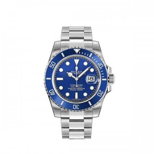 Rolex Submariner m116619LB-0001 Date Blue Dial Watch